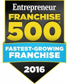 2016 Entrepreneur Fastest Growing Award Winner